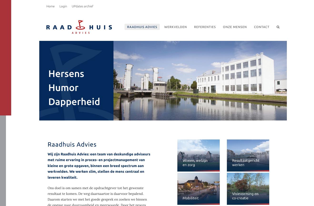 Raadhuis Advies nieuwe website