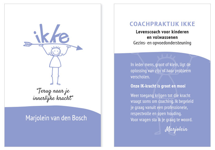 IKKE coaching visitekaartjes