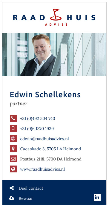 Edwin Schellekens Raadhuis Advies